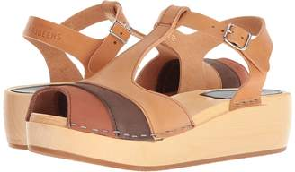 Swedish Hasbeens 90s T-Strap Wedge Women's Wedge Shoes