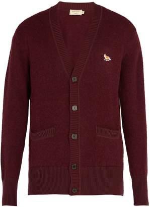 MAISON KITSUNÉ V-neck wool cardigan