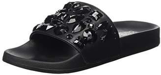 Colours of California Women's Eva Slipper with Plastic Stones Open Toe Sandals,8 UK