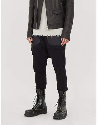 Unravel Cropped panelled wool-blend tapered trousers