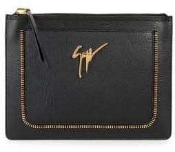 Giuseppe Zanotti Top Zip Leather Pouch