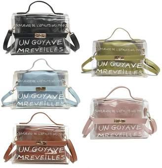 clear Bduco Fashion Women s PVC Transparent Shoulder Bag Satchel Tote  Crossbody Bags Summer Handbag d47d1a0e75606