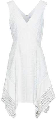 Derek Lam 10 Crosby Crepe De Chine-Paneled Guipure Lace Dress