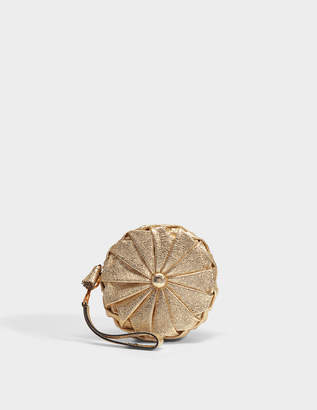 Anya Hindmarch Pillow Clutch in Light Gold Quilted Calf Leather
