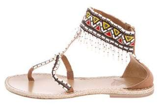 Paul & Joe Marron Beaded Sandals