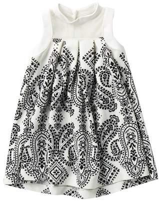 Iris & Ivy Illusion Mock Neck Dress (Little Girls)