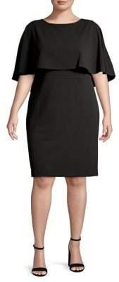Calvin Klein Plus Popover Sheath Dress