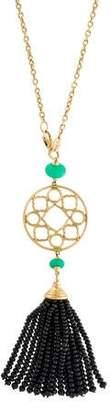 Syna 18K Spinel & Chrysoprase Tassel Pendant Necklace