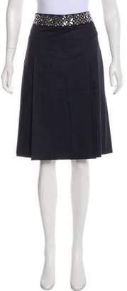 Tory Burch Knee- Length Pleated Skirt