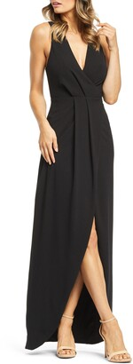 Dress the Population Ariel Racerback Faux Wrap Evening Dress