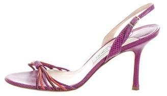 Jimmy Choo Karung Bicolor Sandals