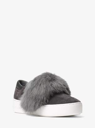MICHAEL Michael Kors Maven Fur and Suede Slip-On Sneaker