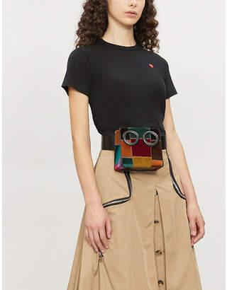 Comme des Garcons Heart-appliquéd cotton-jersey T-shirt
