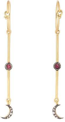 Eye M Women's Moon Hoop Earrings