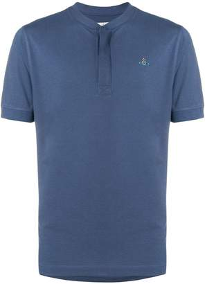 Vivienne Westwood logo collarless polo shirt