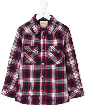 Levi's Kids plaid shirt with chest pockets