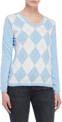 Tommy Hilfiger Argyle Long Sleeve Sweater