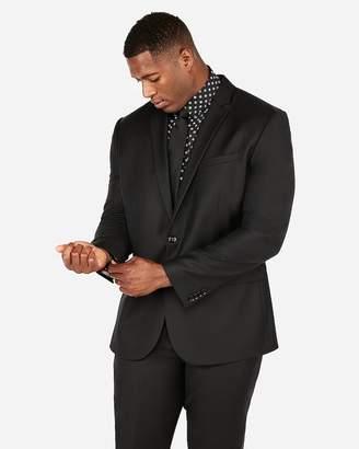 Express Slim Black Luxury 100% Wool Suit Jacket