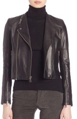 Alice + OliviaAlice + Olivia Gamma Leather Moto Jacket