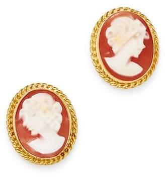 8a7154e0f Bloomingdale's Cameo Stud Earrings in 14K Yellow Gold - 100% Exclusive
