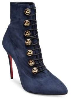 Christian Louboutin Frenchissma 100 Suede Booties
