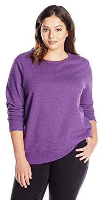 Just My Size Women's Plus-Size V-Notch Sweatshirt