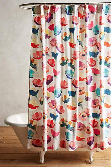 AnthropologieAnthropologie Magnolia Shower Curtain