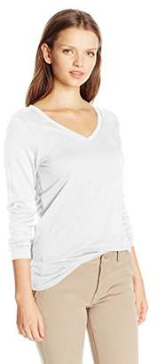 French Toast Juniors Long Sleeve Basic V-Neck Tee