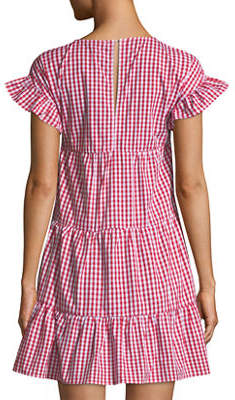 Romeo & Juliet Couture Gingham Tiered Mini Dress