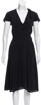 Etoile Isabel Marant Ruffle-Accented Midi Dress w/ Tags