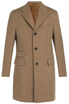 Thom Sweeney - Single Breasted Wool Coat - Mens - Beige
