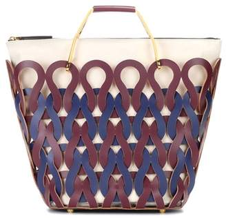 Marni Tricot woven leather shopper