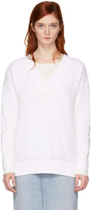 Rag & Bone White Tilda Long Sleeve T-Shirt
