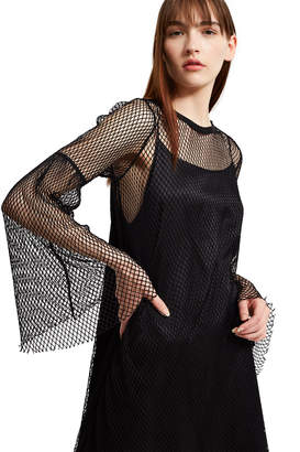 MM6 MAISON MARGIELA Bell Sleeve Mesh Slip Dress