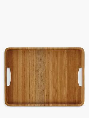 John Lewis & Partners Large Rectangle Wood Tray