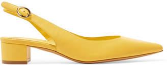 Mansur Gavriel Leather Slingback Pumps - Bright yellow