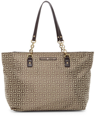 Tommy Hilfiger Eloise Logo Tote $128 thestylecure.com