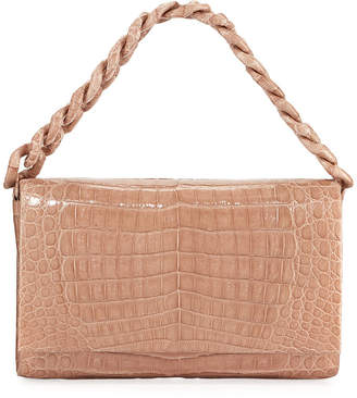 Nancy Gonzalez Convertible Chain-Trim Crocodile Flap Bag