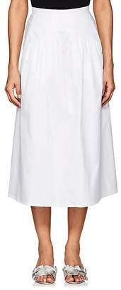 Atlantique Ascoli Women's Jupe Cotton Midi-Skirt