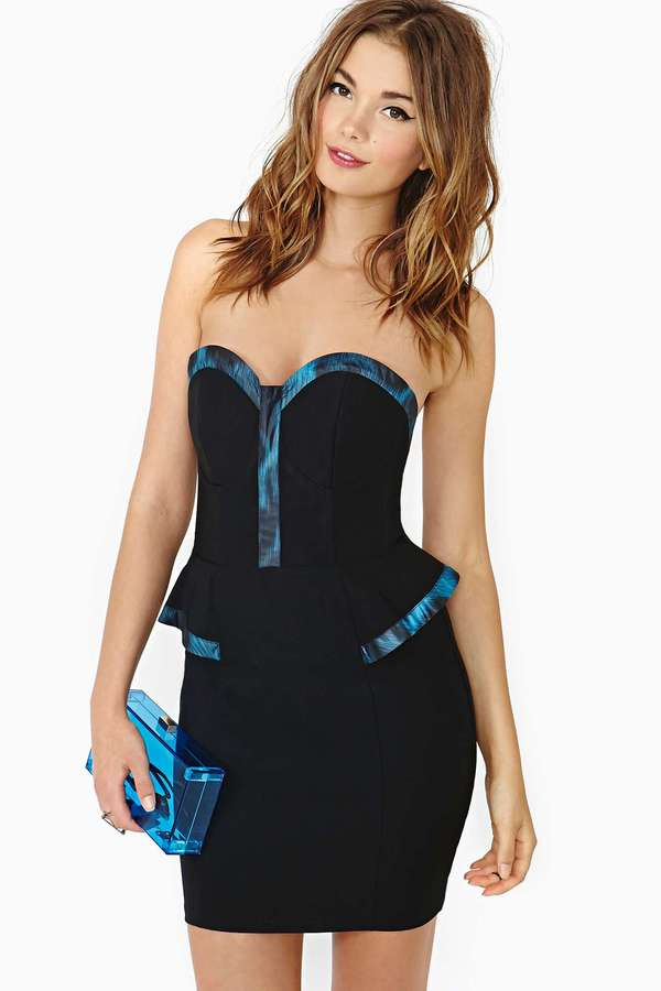 Nasty Gal Big Night Peplum Dress