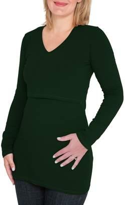 Nurture-Elle Long Sleeve Nursing Maternity Tee