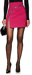 Alexander Wang Women's Zip-Detailed Twill Miniskirt-Md. Pink