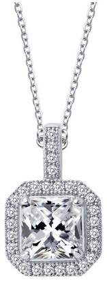 Lafonn Classic Sterling Platinum Plated Lassire Simulated Diamond Necklace (1.52 CTTW)