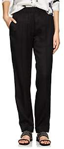 Helmut Lang Women's Silk-Blend Suit Pants - Black