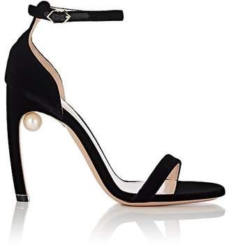 Nicholas Kirkwood Women's Mira Imitation-Pearl Velvet Sandals