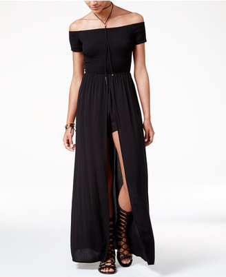 American Rag Juniors' Off-The-Shoulder Maxi Romper, Created for Macy's $69.50 thestylecure.com