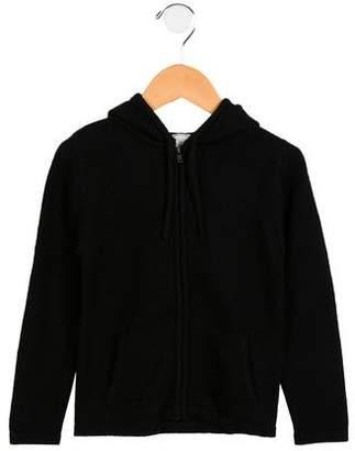 C de C Boys' Wool-Blend Hooded Cardigan