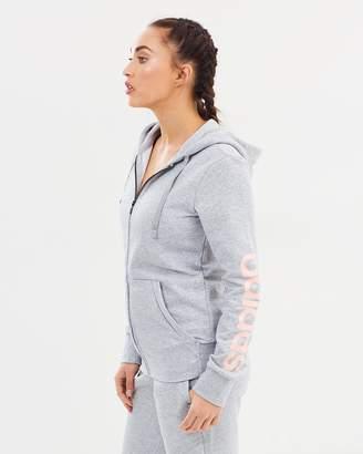 adidas Essential Linear Fleece Full Zip Hoodie