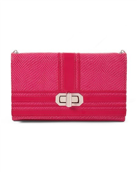 White House Rouge Exotic Tri-Fold Clutch