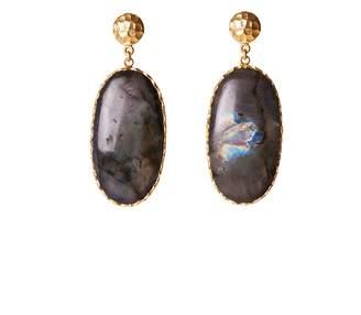 Christina Greene - Large Drop Earrings in Labradorite